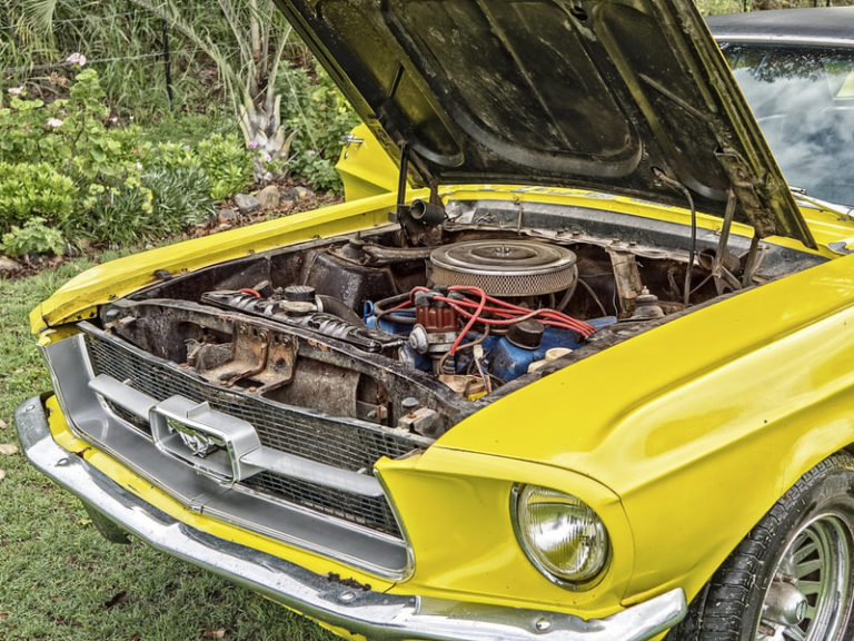 classic ford mustang needs a tow orig